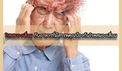 โรคสมองเสื่อม กับอาหารที่มีสรรพคุณป้องกันโรคสมองเสื่อม
