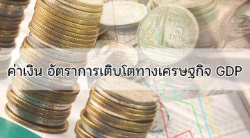 ค่าเงิน อัตราการเติบโตทางเศรษฐกิจ GDP